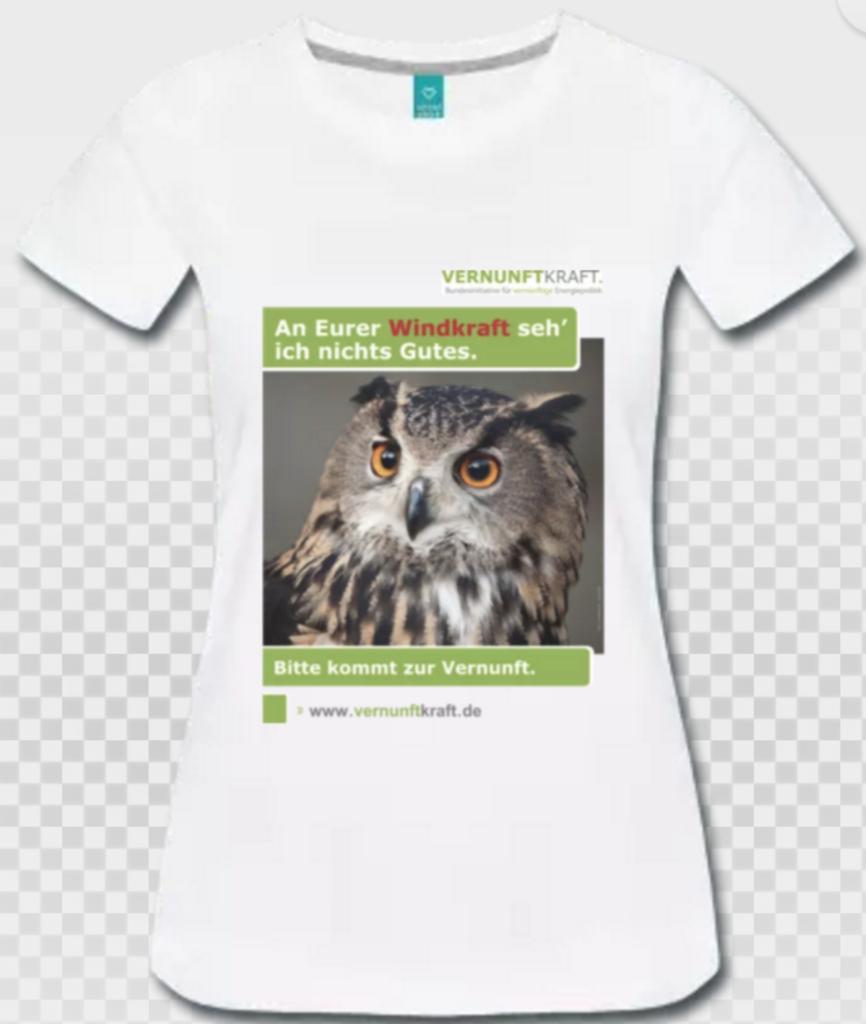 T-Shirt Damen Vorderseite Eule