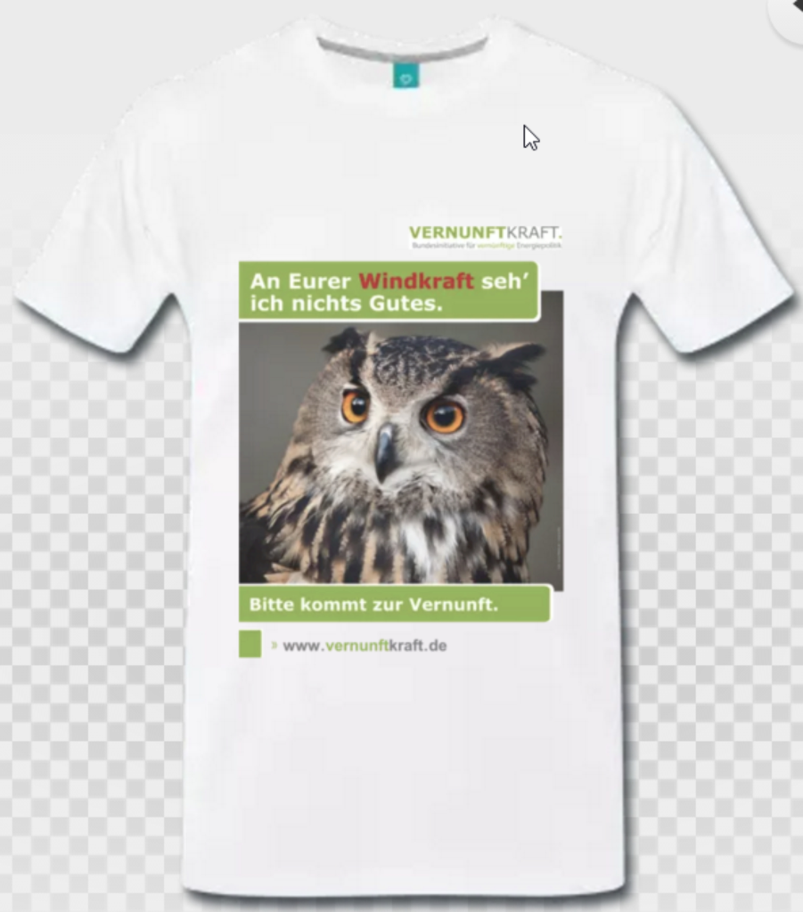 T-Shirt Herren Vorderseite Eule