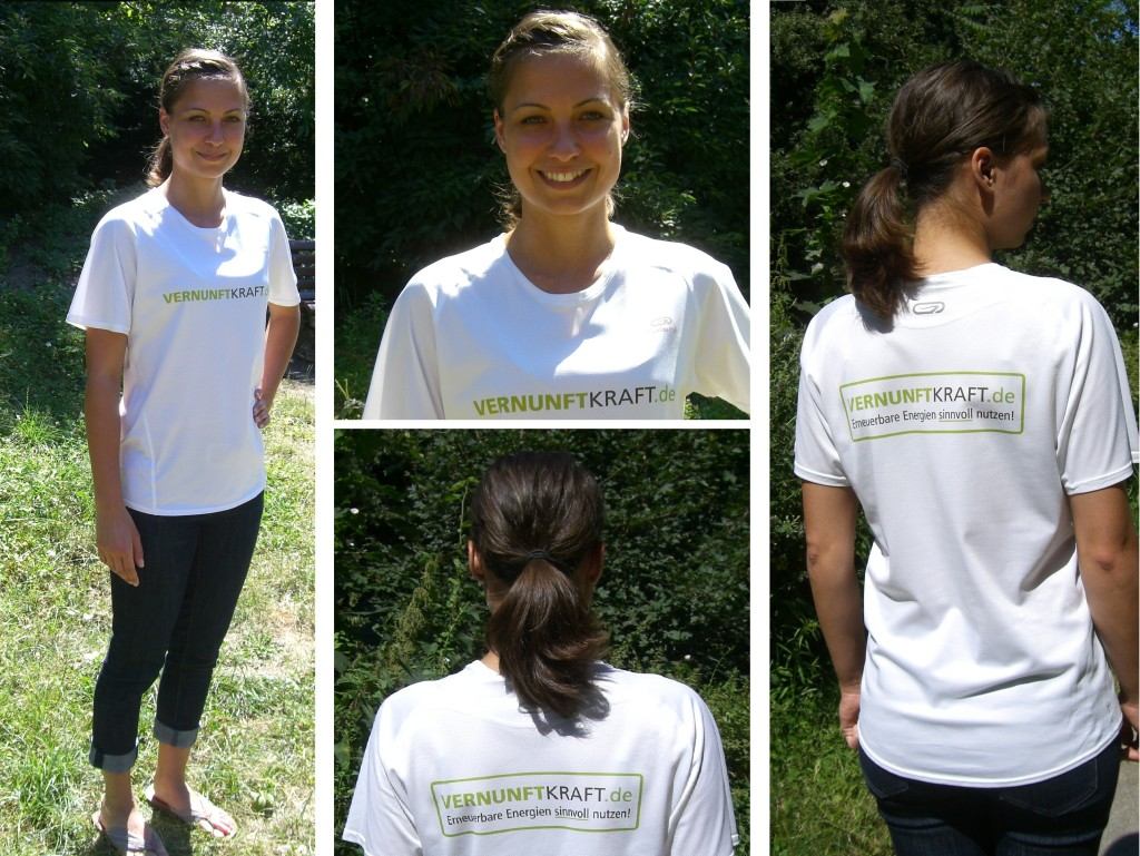 Juliane im VK-T-Shirt