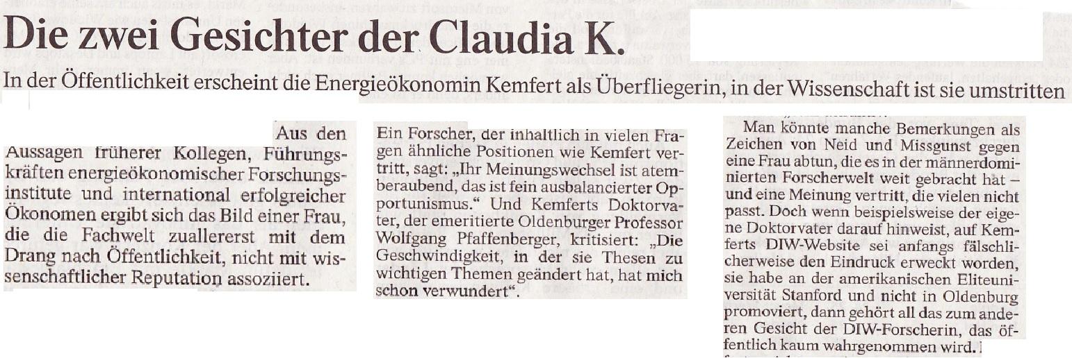 Prof. Kemfert