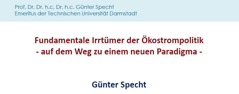 Vortrag Professor Specht