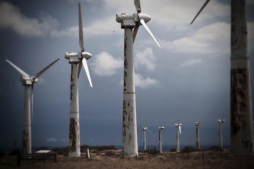 deserted wind turbin in hawaii