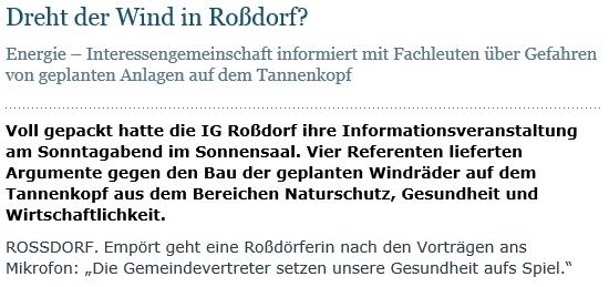 Roßdorf Echo