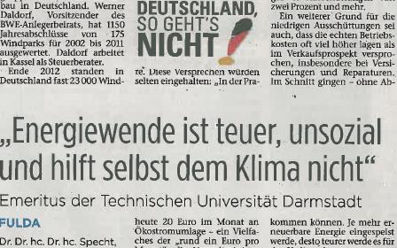 Specht Fuldaer Zeitung