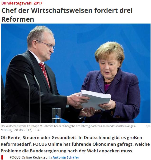 Schmidt an Merkel