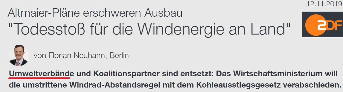 """Windkraft-Abstände: """"Todesstoß"""" kann Leben retten"""