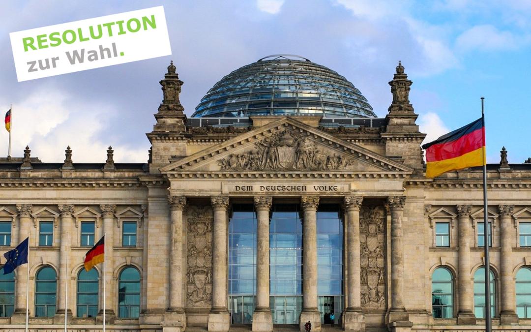 Resolution zur Bundestagswahl